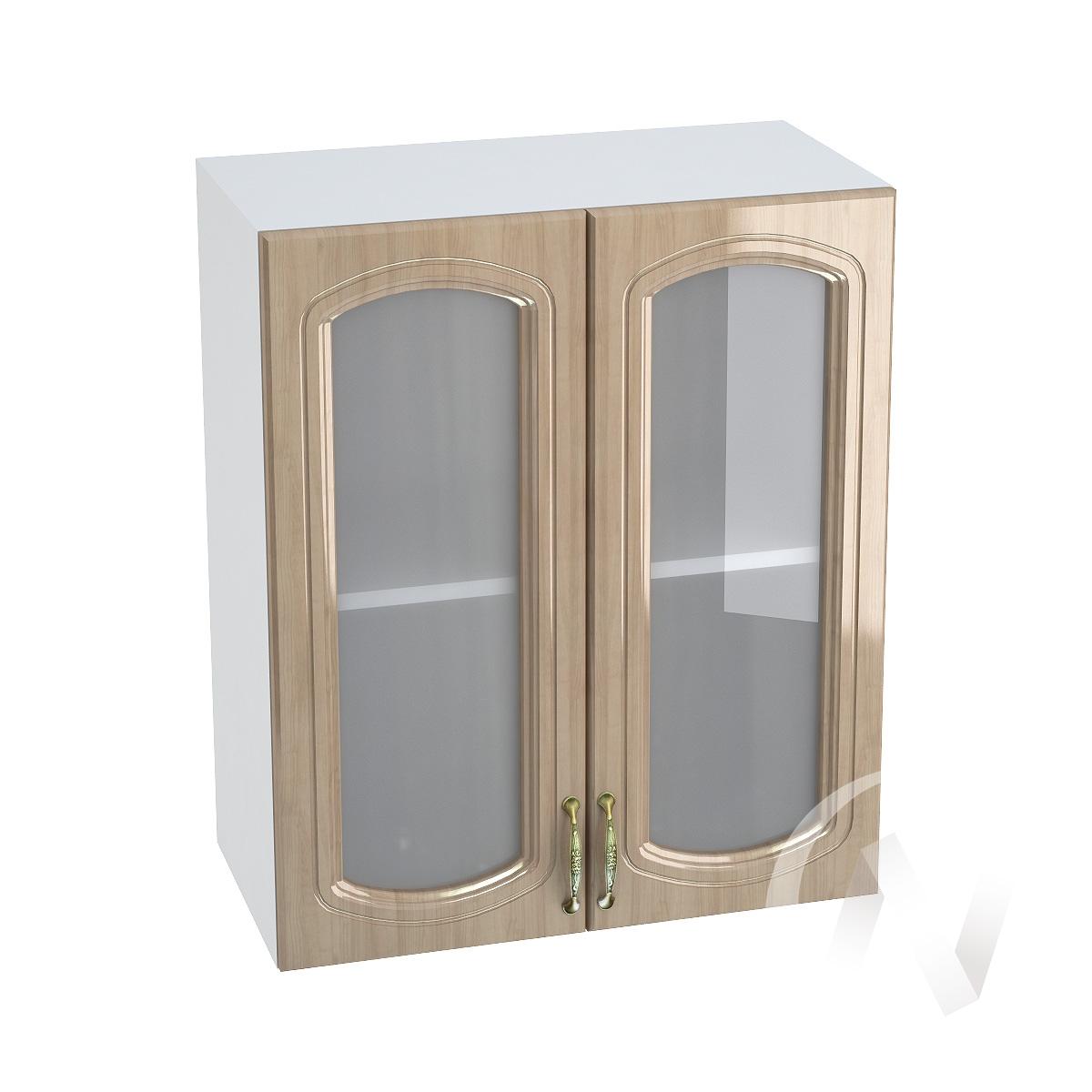 "Кухня ""Сити"": Шкаф верхний со стеклом 600, ШВС 600 (корпус белый)"