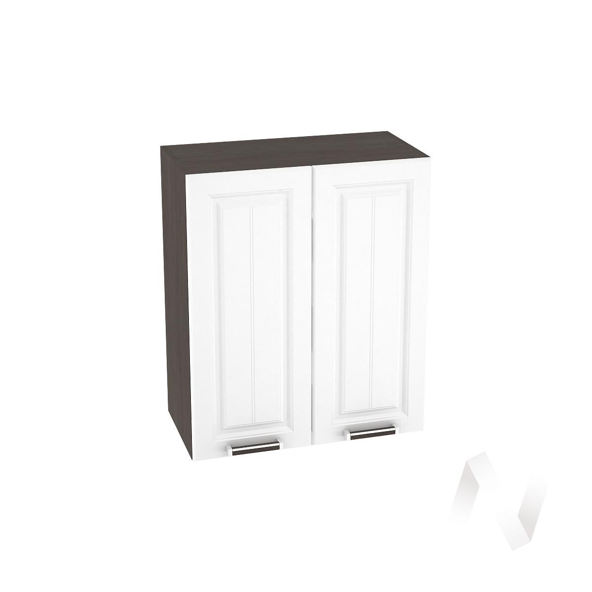 """Кухня """"Прага"""": Шкаф верхний 600, ШВ 600 (белое дерево/корпус венге)"""
