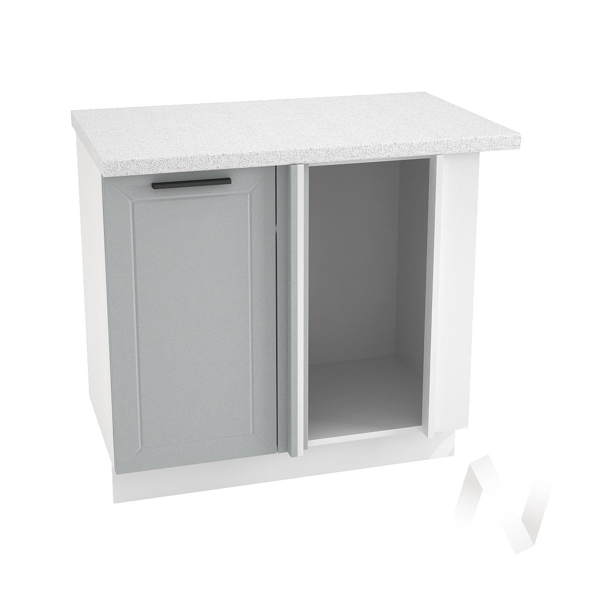"""Кухня """"Глетчер"""": Шкаф нижний угловой 990М, ШНУ 990М (Гейнсборо Силк/корпус белый)"""