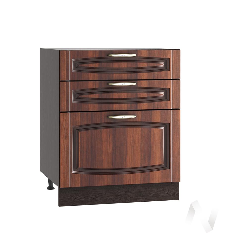 """Кухня """"Неаполь"""": Шкаф нижний с 3-мя ящиками 600, ШН3Я 600 (Италия/корпус венге)"""