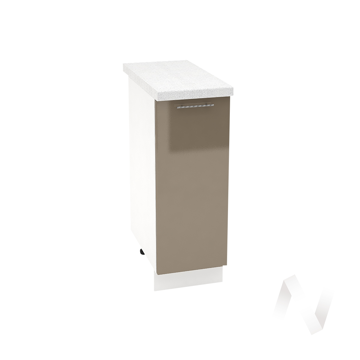 "Кухня ""Валерия-М"": Шкаф нижний 300, ШН 300 (Капучино глянец/корпус белый)"
