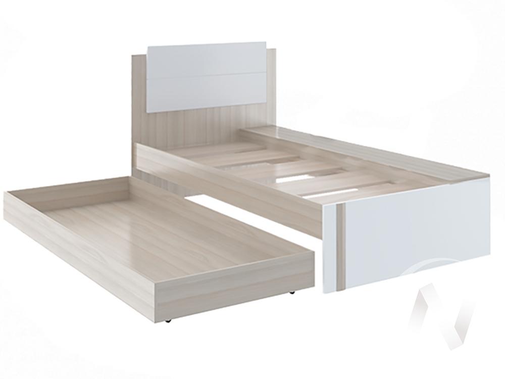 Кровать Walker М14 (ясень шимо светлый/белый)