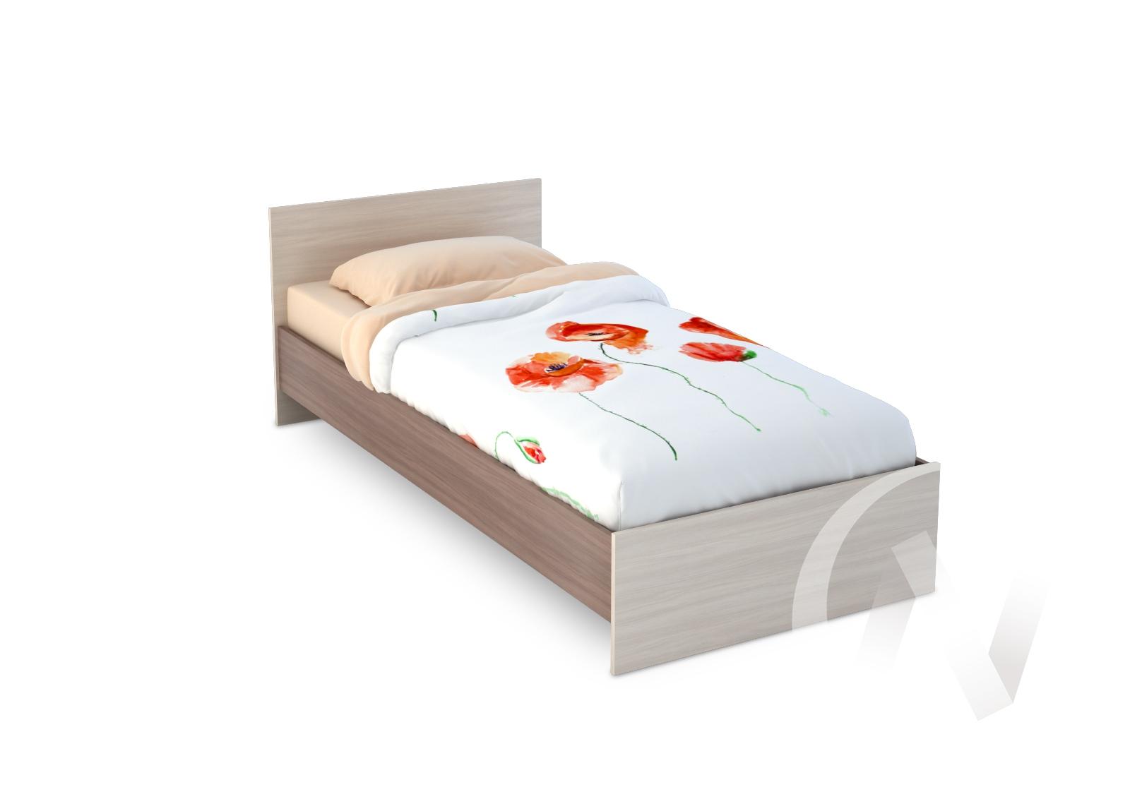 Бася Кровать 0,9  ЛДСП(ясень шимо темный/ясень шимо светлый) КР 555