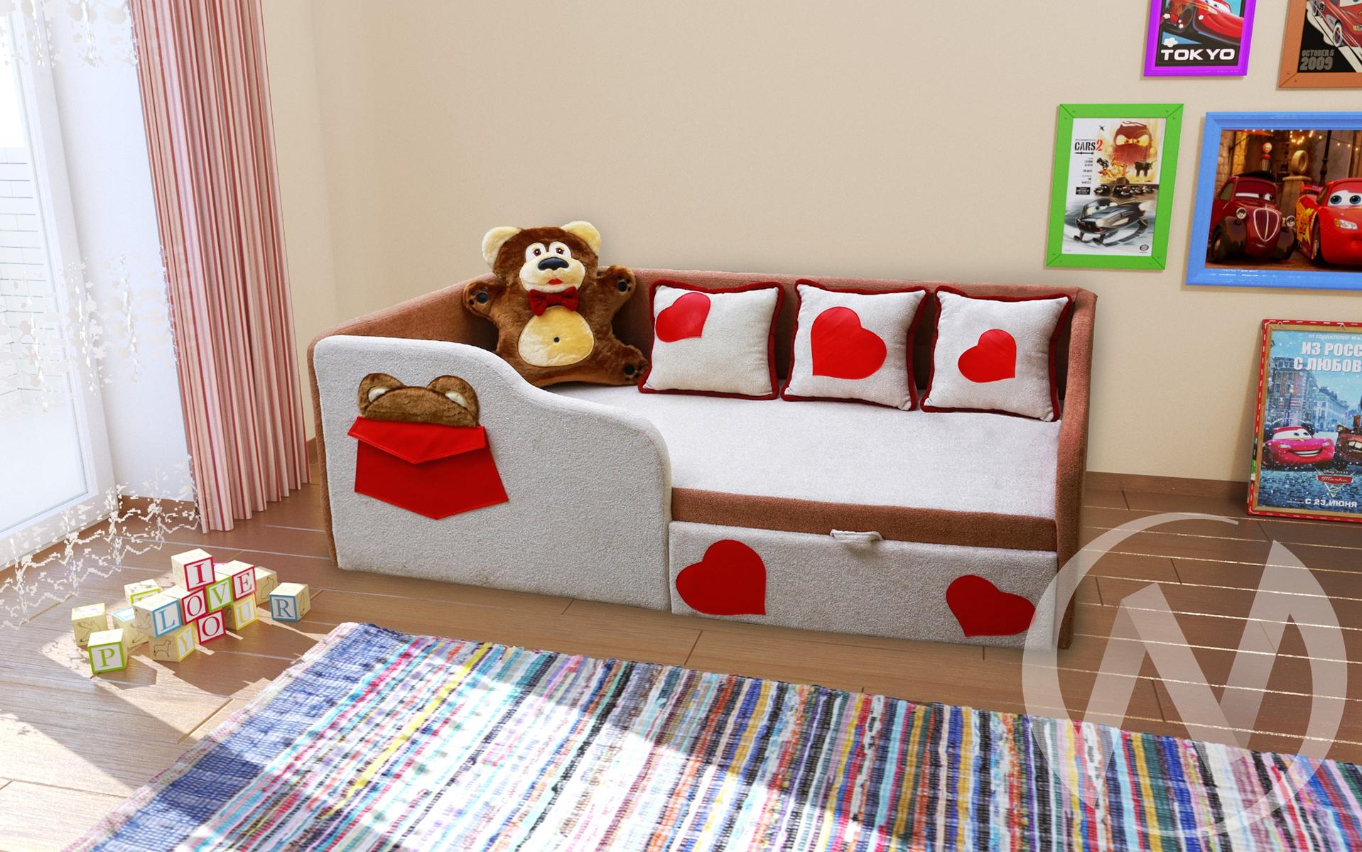 Тед диван детский левый  в Томске — интернет магазин МИРА-мебель