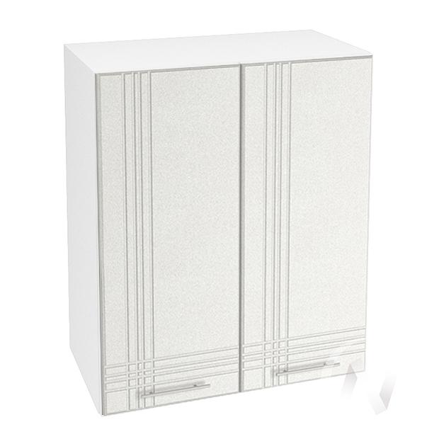 """Кухня """"Струна"""": Шкаф верхний 600, ШВ 600 (белый металлик/корпус белый)"""
