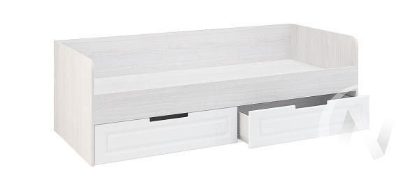 Кровать с ящиками КР-722 МС Прага (ясень анкор/белое дерево)