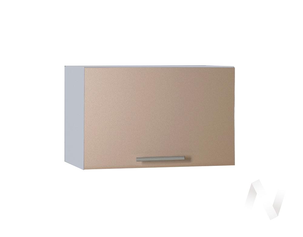 """Кухня """"Люкс"""": Шкаф верхний горизонтальный 500, ШВГ 500 (Шоколад матовый/корпус белый)"""