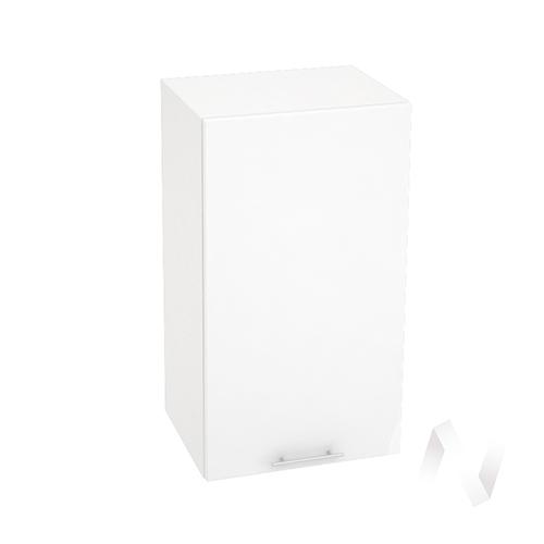 """Кухня """"Валерия-М"""": Шкаф верхний 400, ШВ 400 (белый гленец/корпус белый)"""