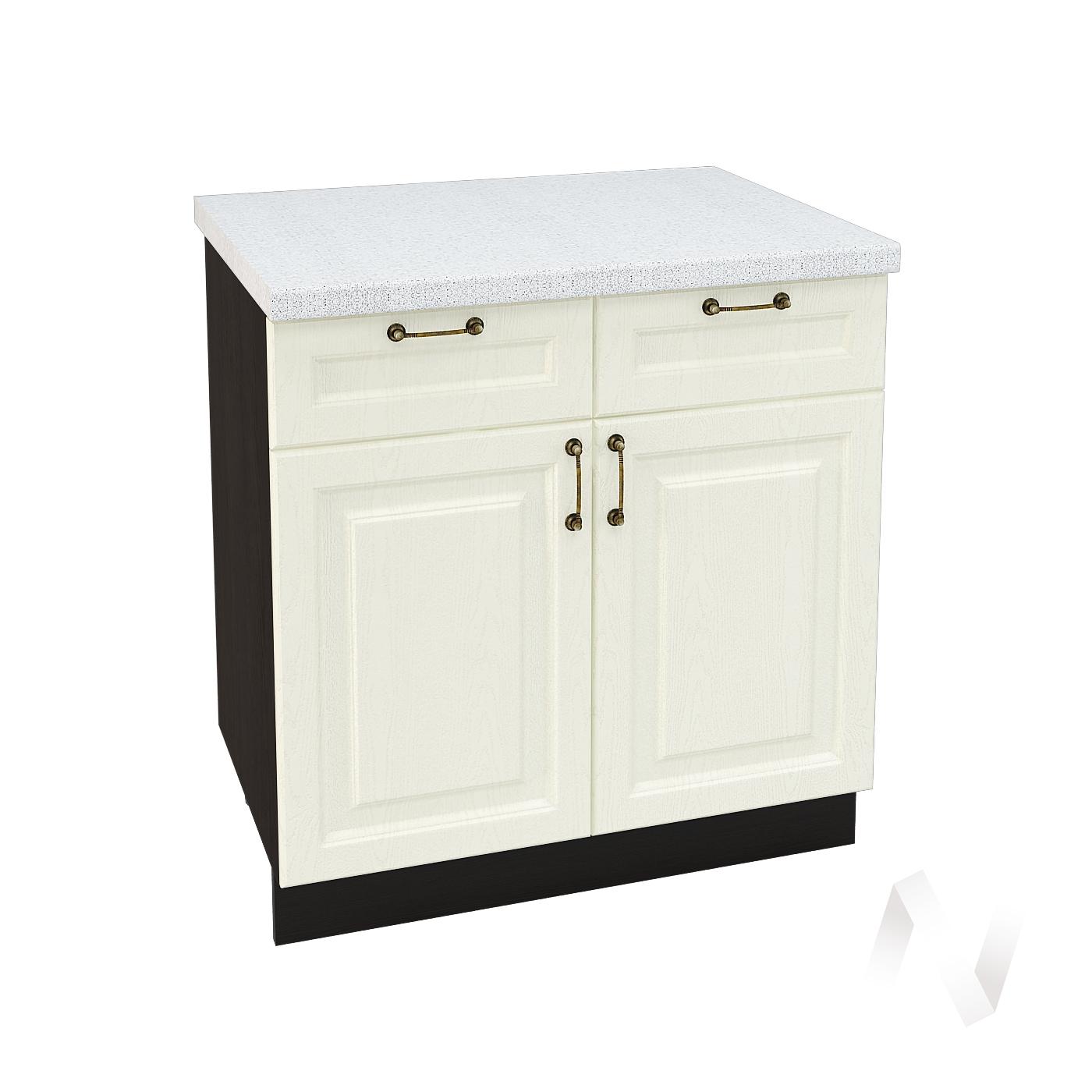 """Кухня """"Ницца"""": Шкаф нижний с ящиками 800, ШН1Я 800 (Крем/корпус венге)"""