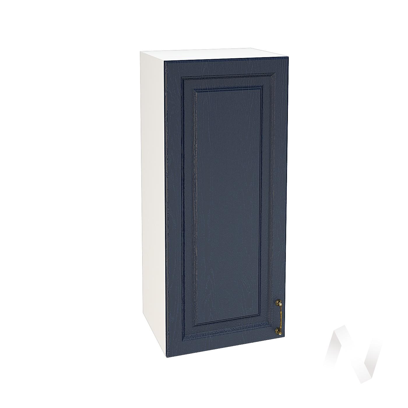 """Кухня """"Ницца"""": Шкаф верхний 409, ШВ 409 (Дуб чернильный/корпус белый)"""