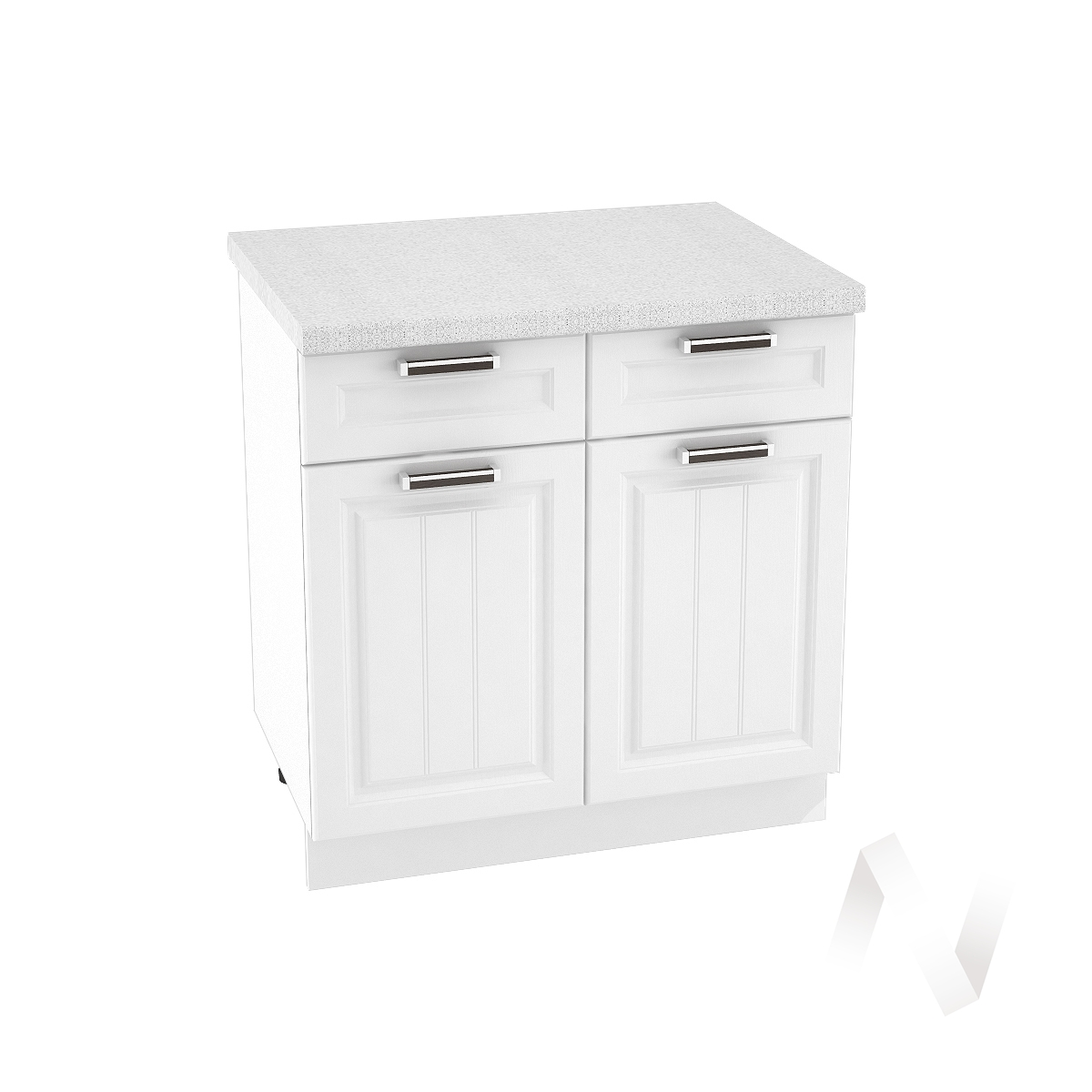 """Кухня """"Прага"""": Шкаф нижний с ящиками 800, ШН1Я 800 (белое дерево/корпус белый)"""