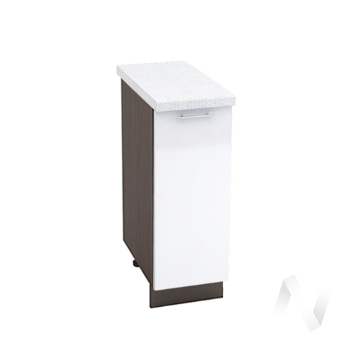 "Кухня ""Валерия-М"": Шкаф нижний 300, ШН 300 (белый металлик/корпус венге)"