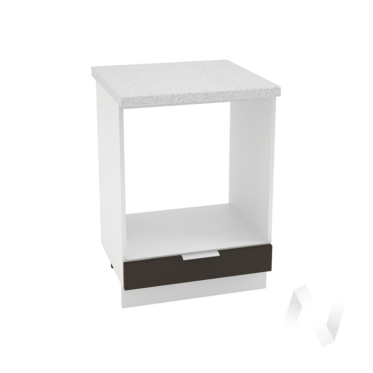 """Кухня """"Терра"""": Шкаф нижний под духовку 600, ШНД 600 (смоки софт/корпус белый)"""