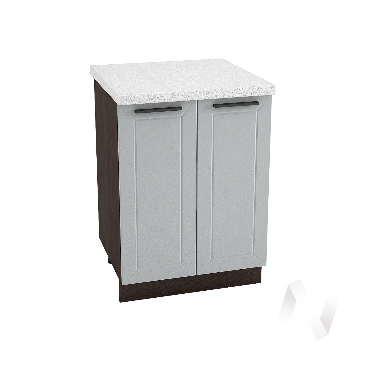 "Кухня ""Глетчер"": Шкаф нижний 600, ШН 600 (Гейнсборо Силк/корпус венге)"