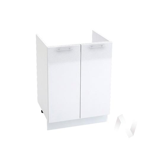 "Кухня ""Валерия-М"": Шкаф нижний под мойку 600, ШНМ 600 (белый металлик/корпус белый)"