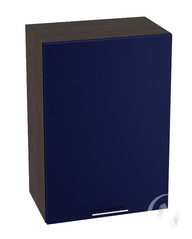 "Кухня ""Валерия-М"": Шкаф верхний 500, ШВ 500 (Синий глянец/корпус венге)"