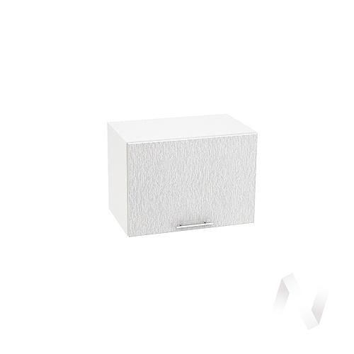 """Кухня """"Валерия-М"""": Шкаф верхний горизонтальный 500, ШВГ 500 (дождь серый/корпус белый)"""