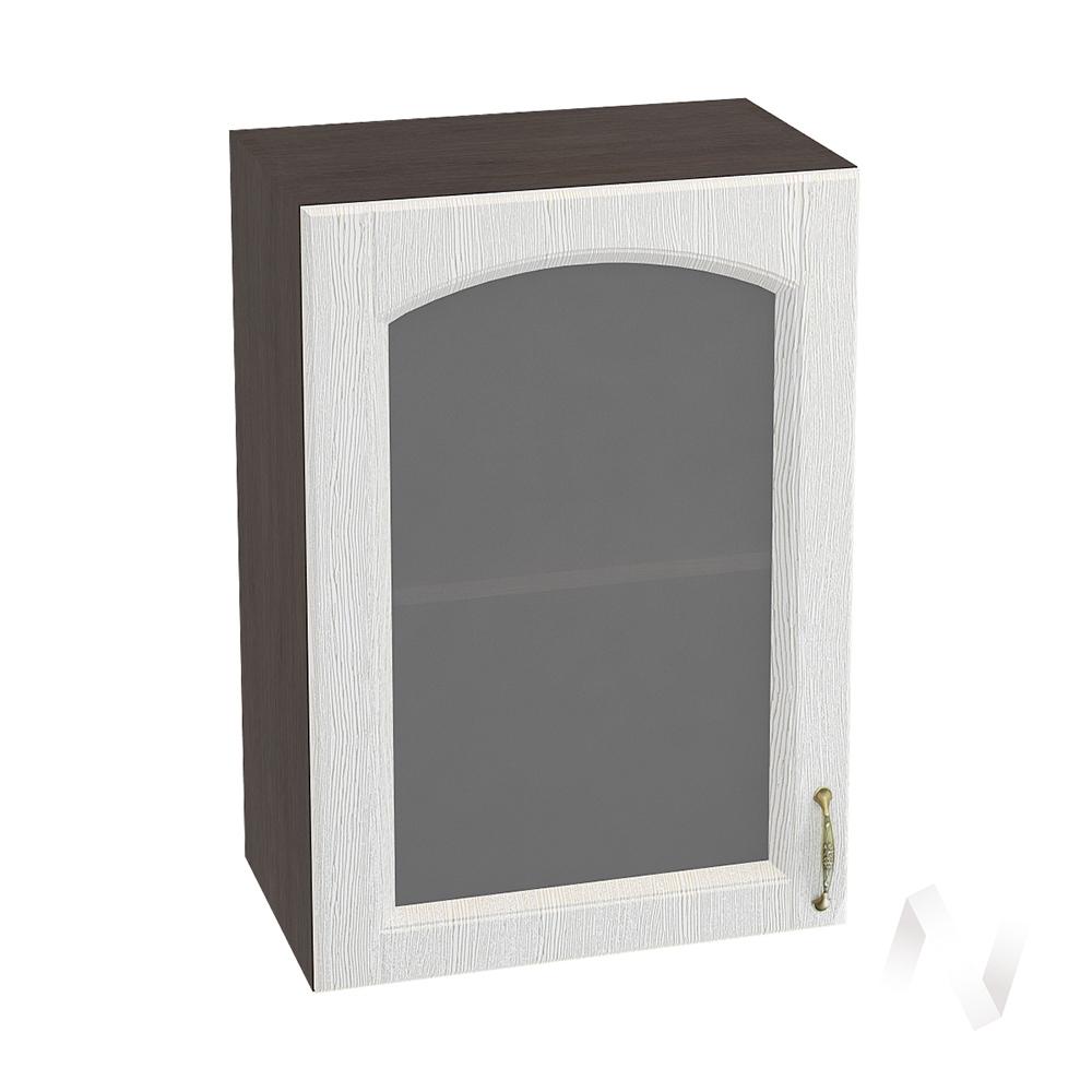 """Кухня """"Верона"""": Шкаф верхний со стеклом 500, ШВС 500 (ясень золотистый/корпус венге)"""