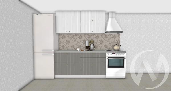 Кухня Прованс серый/белое дерево 1,6№1