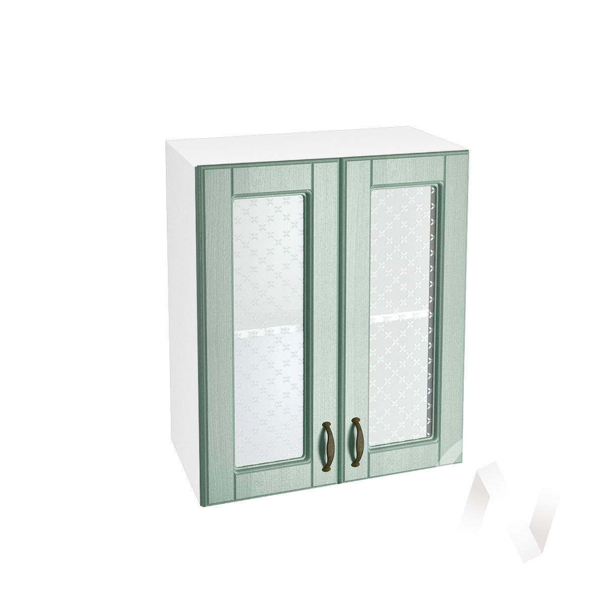 "Кухня ""Прованс"": Шкаф верхний со стеклом 600, ШВС 600 (корпус белый)"