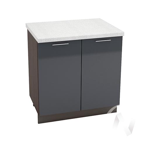 "Кухня ""Валерия-М"": Шкаф нижний 800, ШН 800 (Антрацит глянец/корпус венге)"