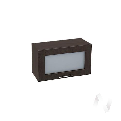 """Кухня """"Валерия-М"""": Шкаф верхний горизонтальный со стеклом 600, ШВГС 600 (венге/корпус венге)"""