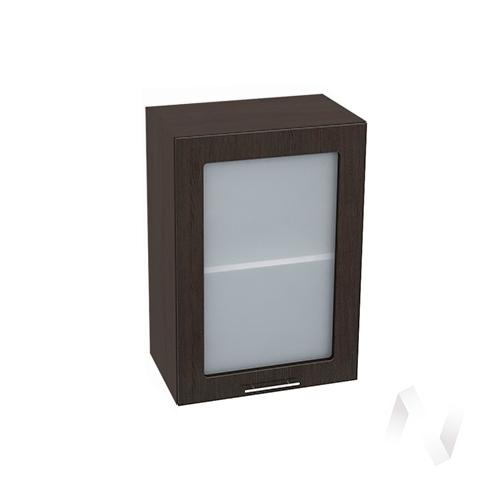 """Кухня """"Валерия-М"""": Шкаф верхний со стеклом 500, ШВС 500 (венге/корпус венге)"""