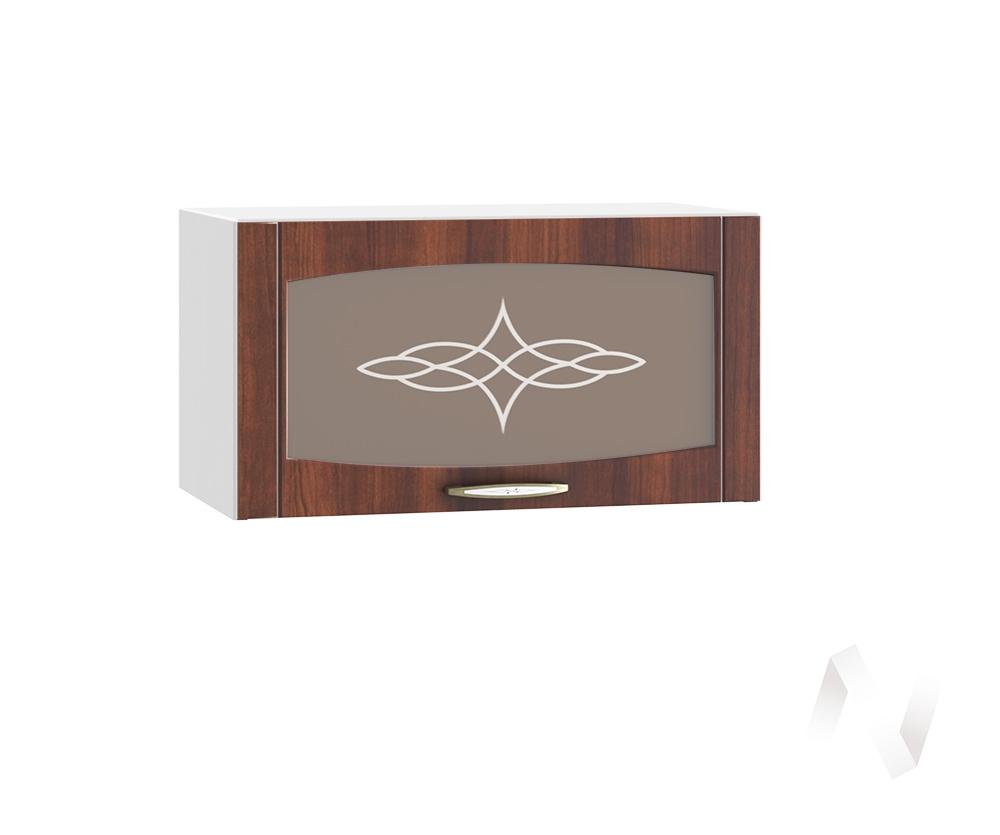 """Кухня """"Неаполь"""": Шкаф верхний горизонтальный со стеклом 600, ШВГС 600 (Италия/корпус белый)"""