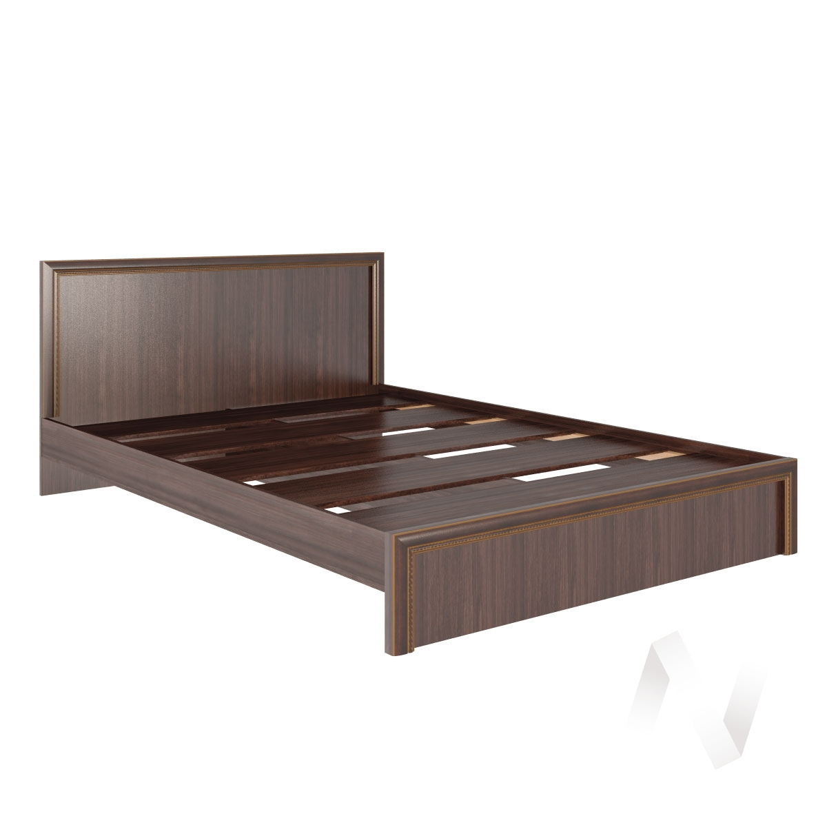 Кровать стандарт 1,6 Спальня М06 Беатрис (орех гепланкт)