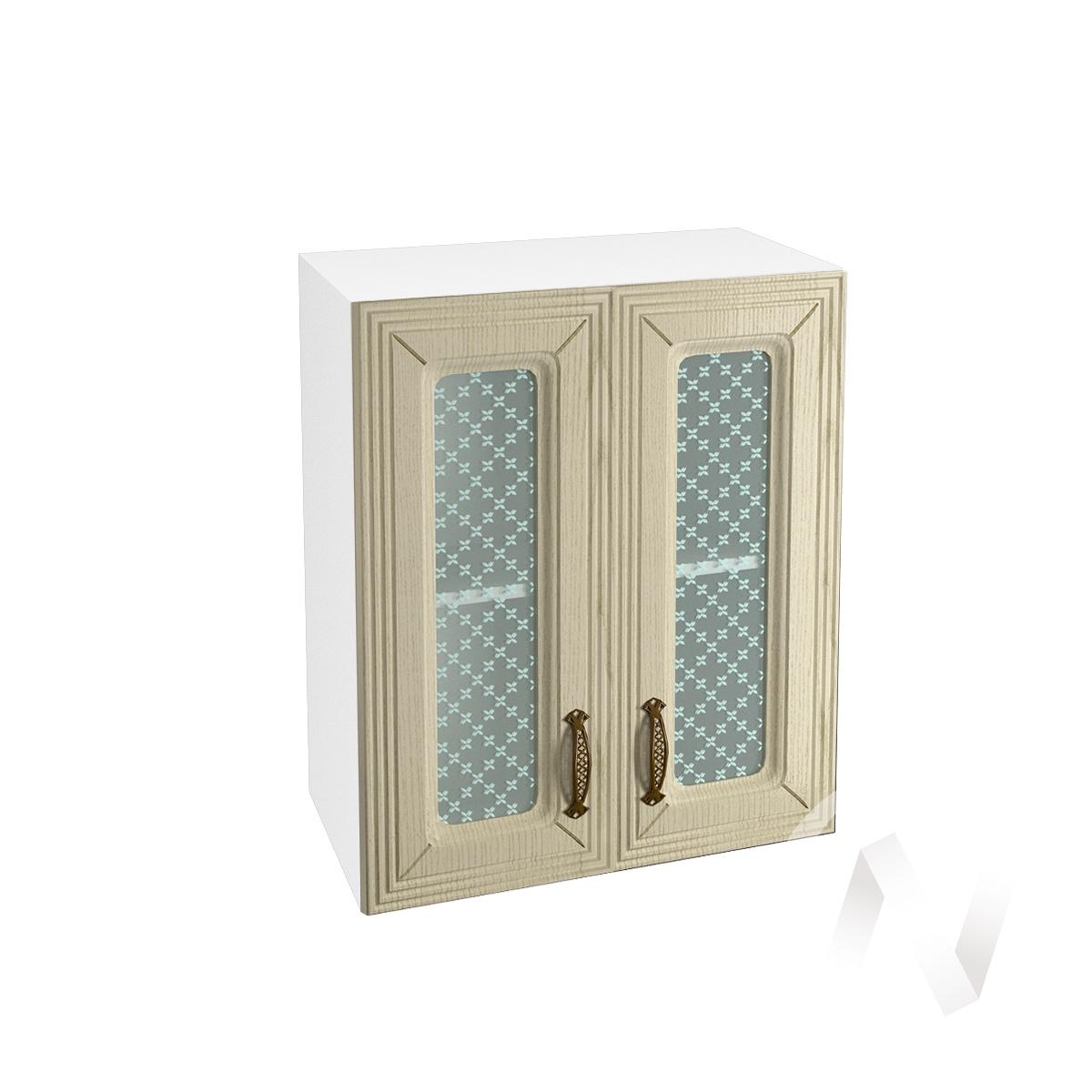"""Кухня """"Изабель"""": Шкаф верхний со стеклом 600, ШВС 600 (корпус белый)"""