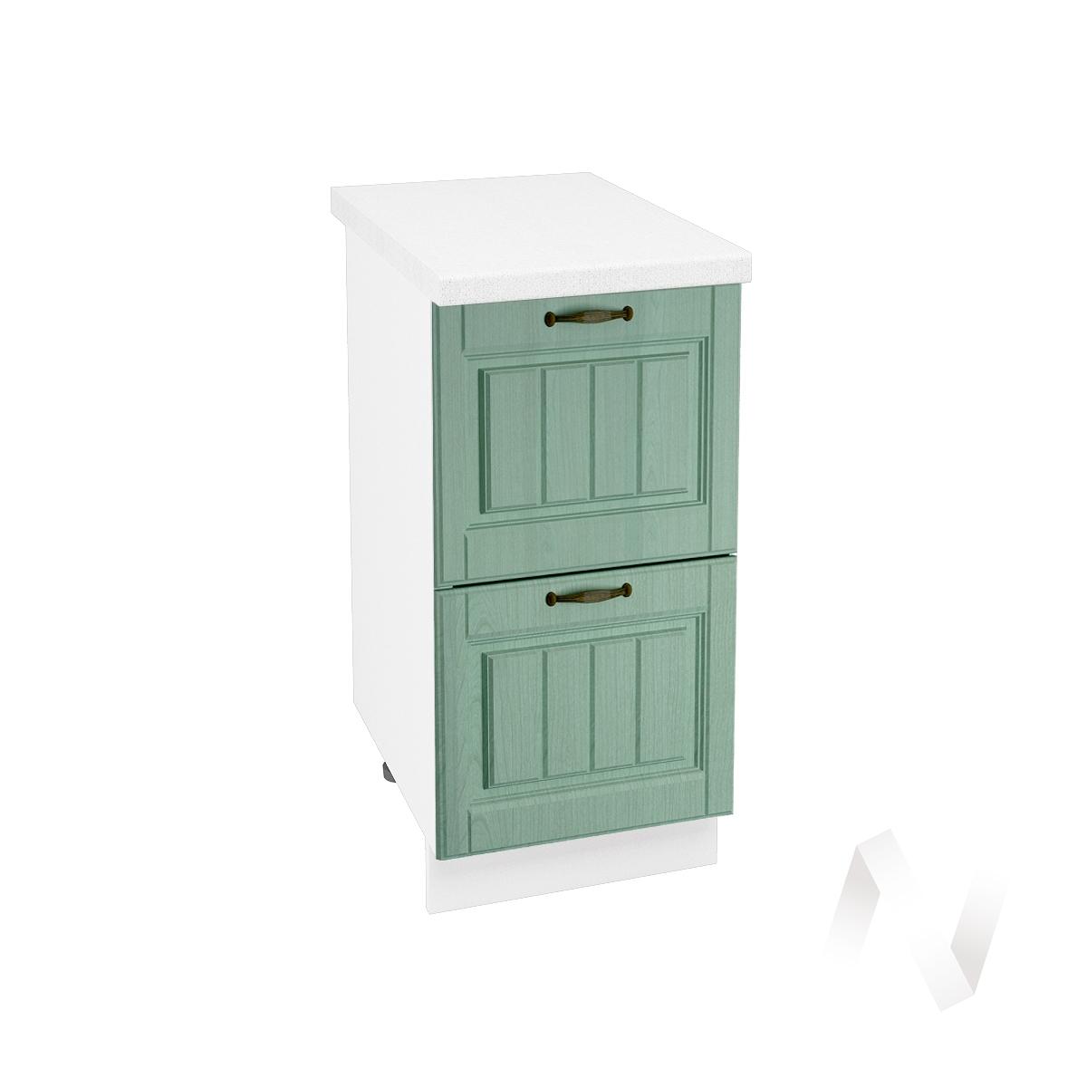 """Кухня """"Прованс"""": Шкаф нижний с 2-мя ящиками 400, ШН2Я 400 (корпус белый)"""