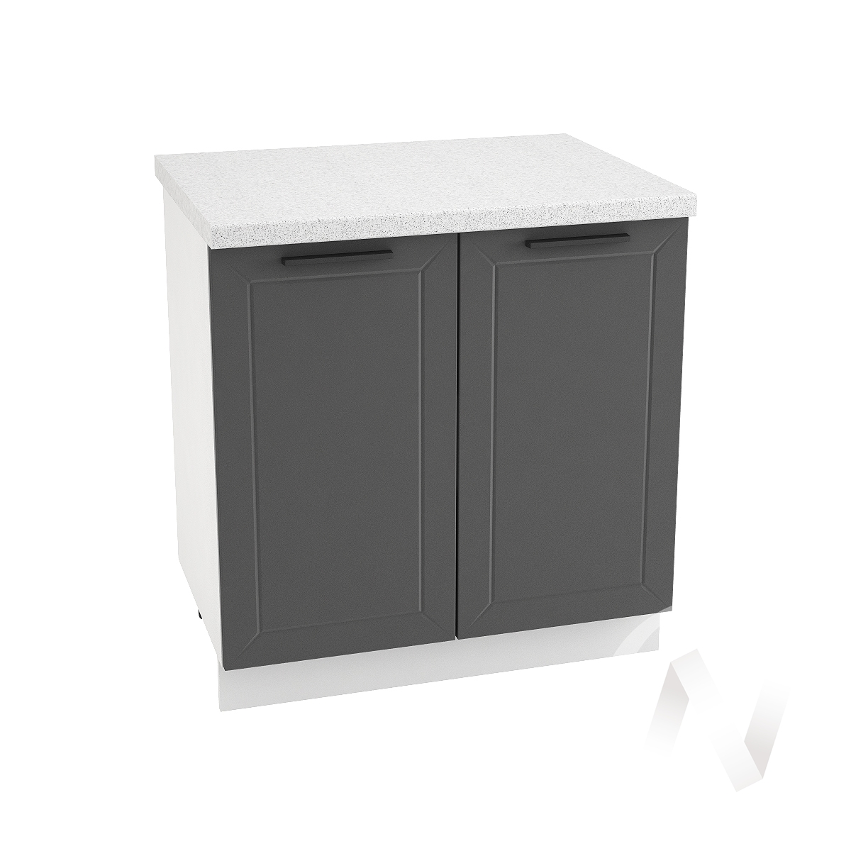 """Кухня """"Глетчер"""": Шкаф нижний 800, ШН 800 (Маренго силк/корпус белый)"""