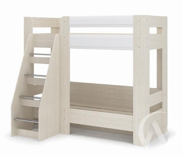 Кровать 2-х ярусная Симба (дуб белфорт/белый глянец)