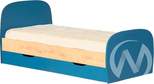 Космос М12 Кровать с ящиками 800*2000 (дуб бунратти/альпийское озеро)