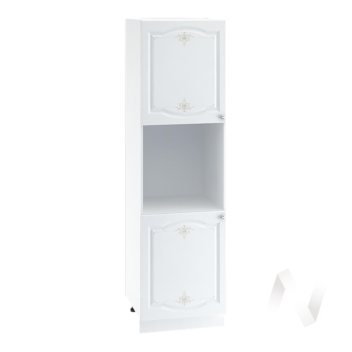 """Кухня """"Шарлиз"""": Шкаф пенал 600, ШП 600 (корпус белый)"""