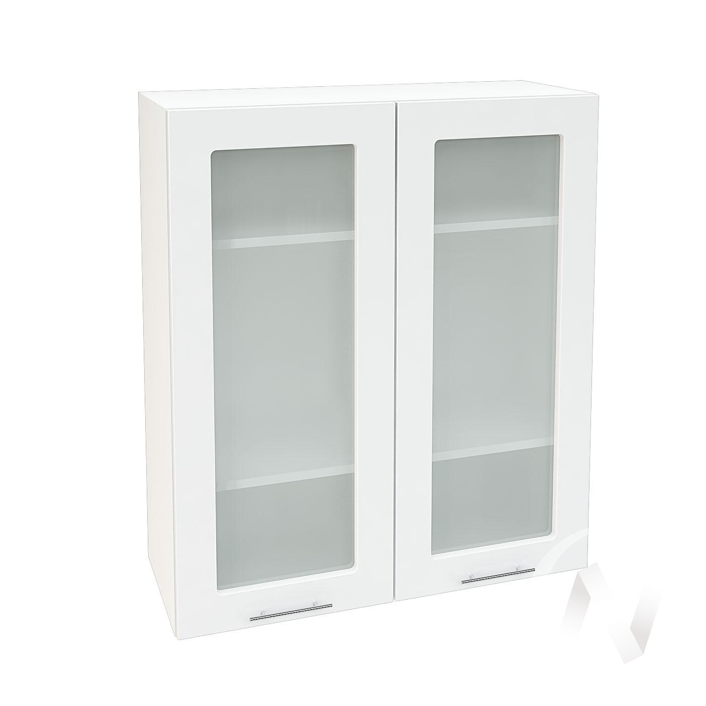 """Кухня """"Валерия-М"""": Шкаф верхний со стеклом 809, ШВС 809 (белый глянец/корпус белый)"""