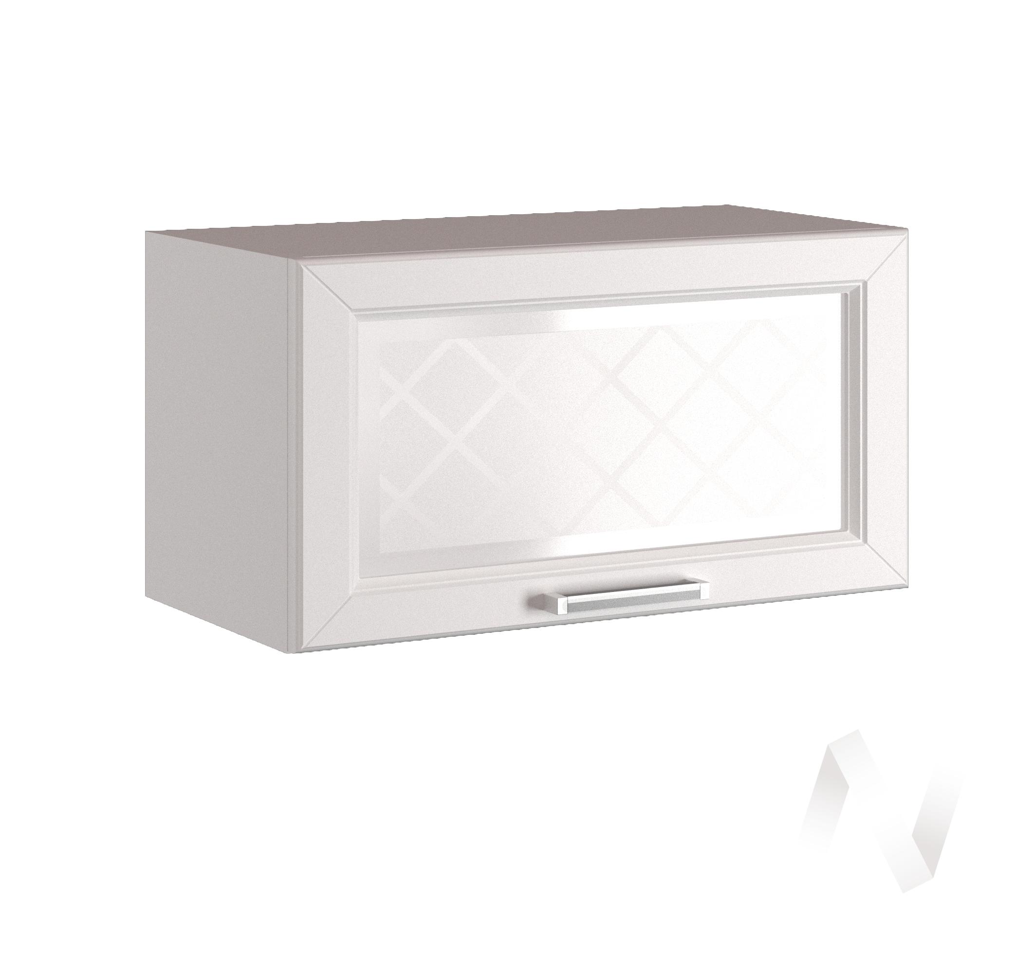 """Кухня """"Вена"""": Шкаф верхний горизонтальный со стеклом 500, ШВГС 500 (корпус белый)"""