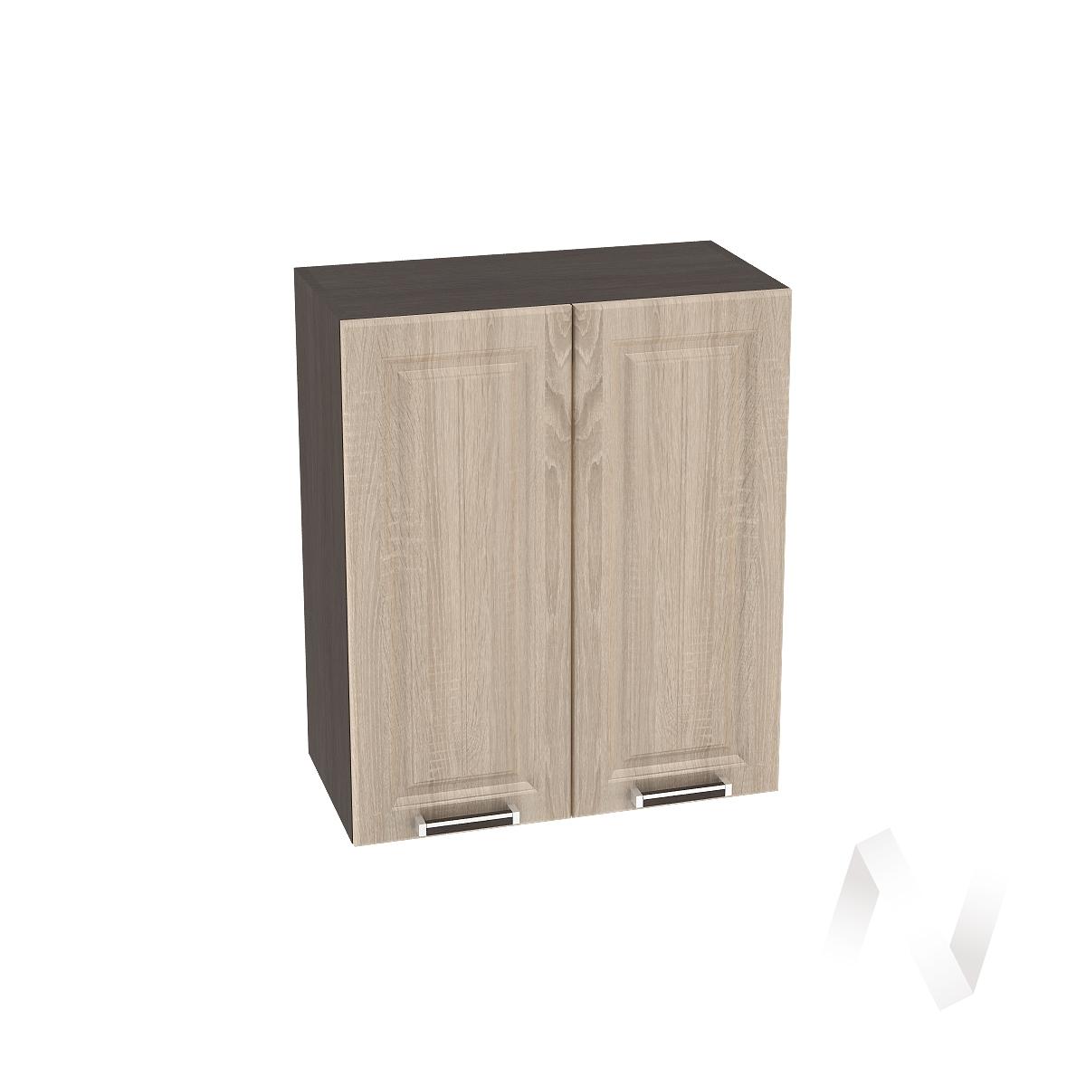 "Кухня ""Прага"": Шкаф верхний 600, ШВ 600 (дуб сонома/корпус венге)"