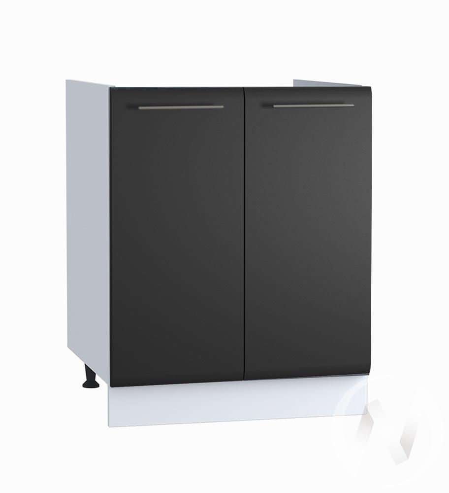 "Кухня ""Люкс"": Шкаф нижний под мойку 600, ШНМ 600 (Шелк венге/корпус белый)"