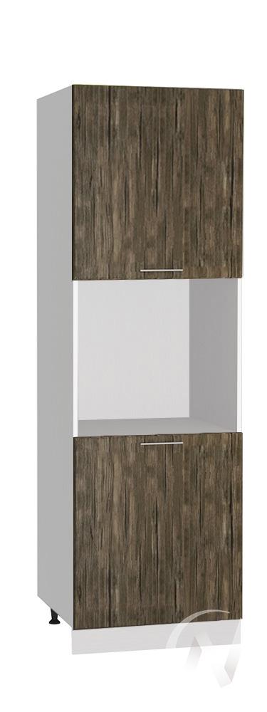 """Кухня """"Норден"""": Шкаф пенал 600, ШП 600 (старое дерево/корпус белый)"""