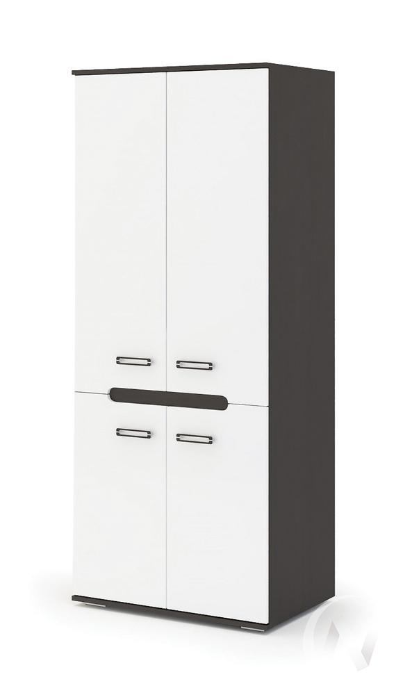 Шкаф 2-х створчатый Града (венге/белый глянец)