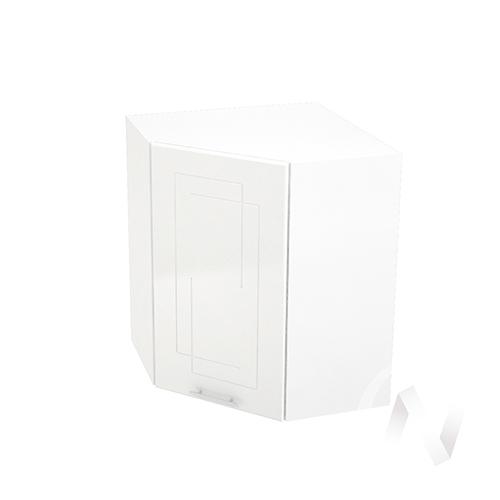 """Кухня """"Вега"""": Шкаф верхний угловой 590, ШВУ 590 (белый металлик/корпус белый)"""
