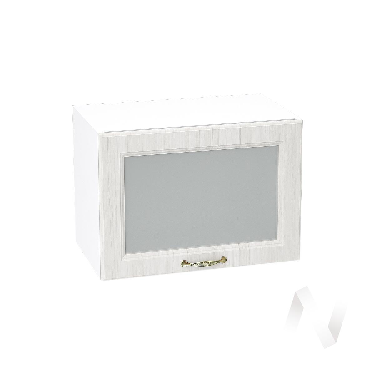 """Кухня """"Виктория"""": Шкаф верхний горизонтальный со стеклом 500, ШВГС 500 (корпус белый)"""