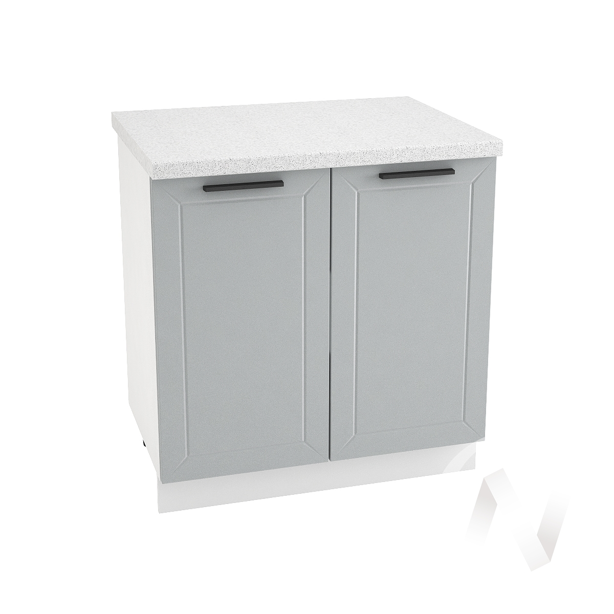 "Кухня ""Глетчер"": Шкаф нижний 800, ШН 800 (Гейнсборо силк/корпус белый)"