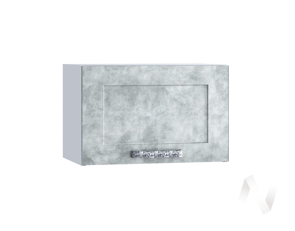 "Кухня ""Лофт"": Шкаф верхний горизонтальный 500, ШВГ 500 (Бетон серый/корпус белый)"
