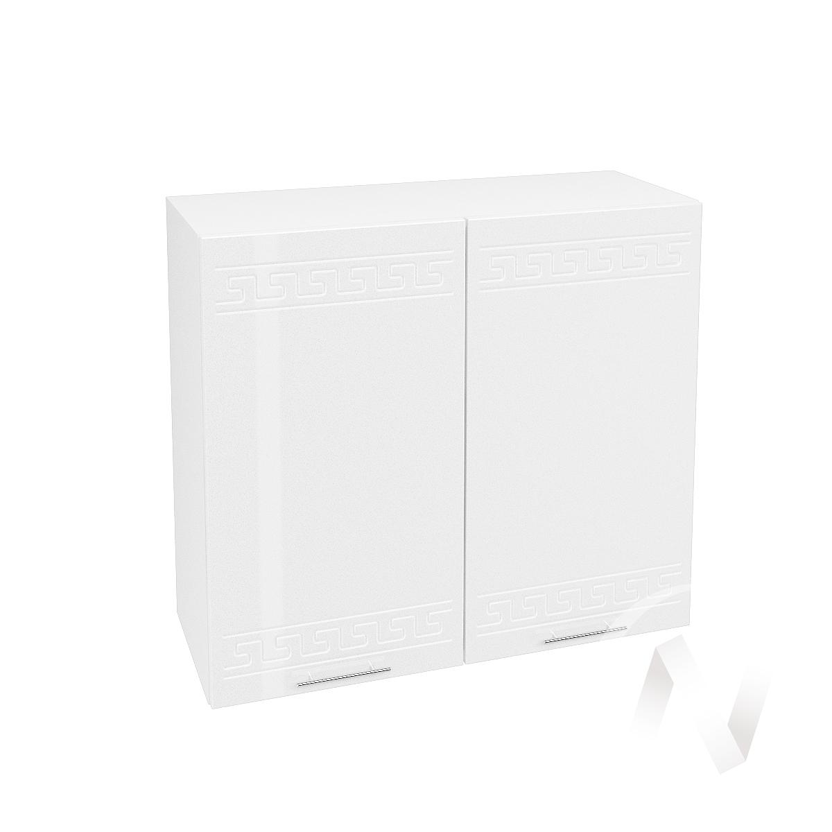 """Кухня """"Греция"""": Шкаф верхний 800, ШВ 800 (белый металлик/корпус белый)"""