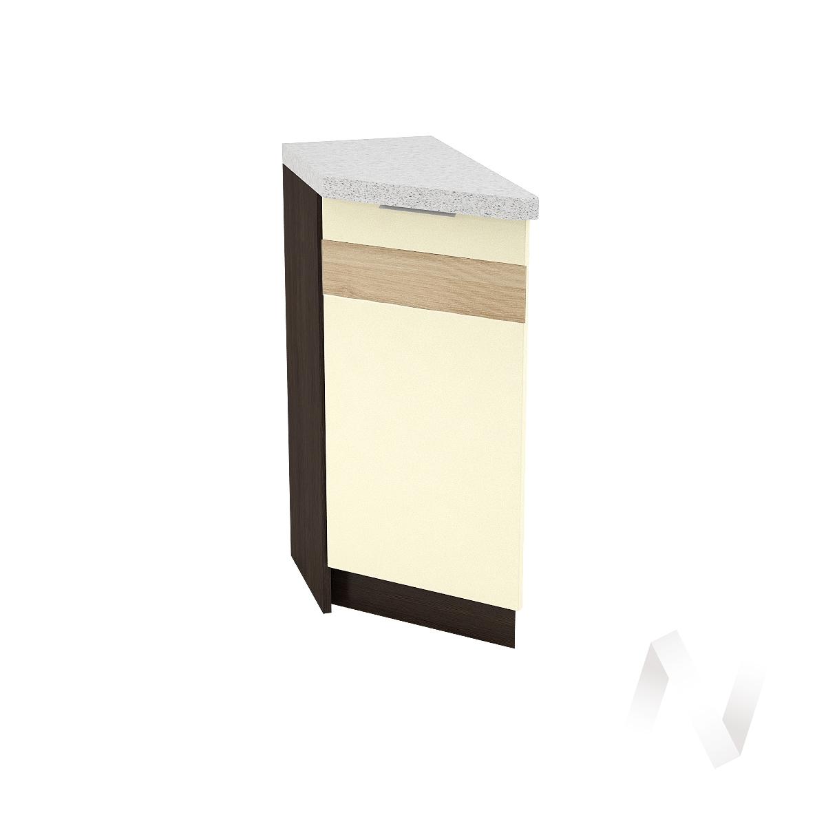 """Кухня """"Терра"""": Шкаф нижний торцевой левый 300, ШНТ 300 (ваниль софт/корпус венге)"""
