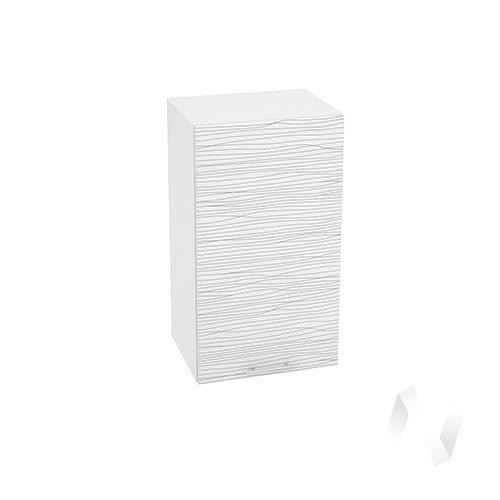 "Кухня ""Валерия-М"": Шкаф верхний 400, ШВ 400 (Страйп белый/корпус белый)"