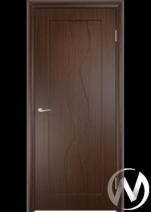 Дверь ПВХ Тип Водопад, 60, глухая, венге