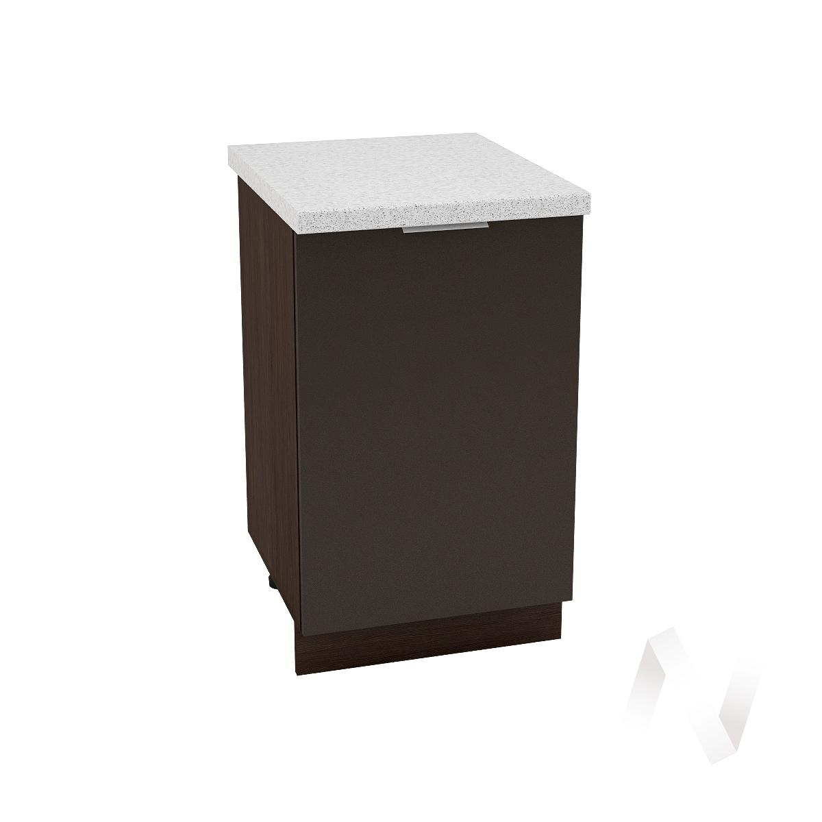 """Кухня """"Терра"""": Шкаф нижний 500, ШН 500 (смоки софт/корпус венге) в Томске — авторская мебель Экостиль"""